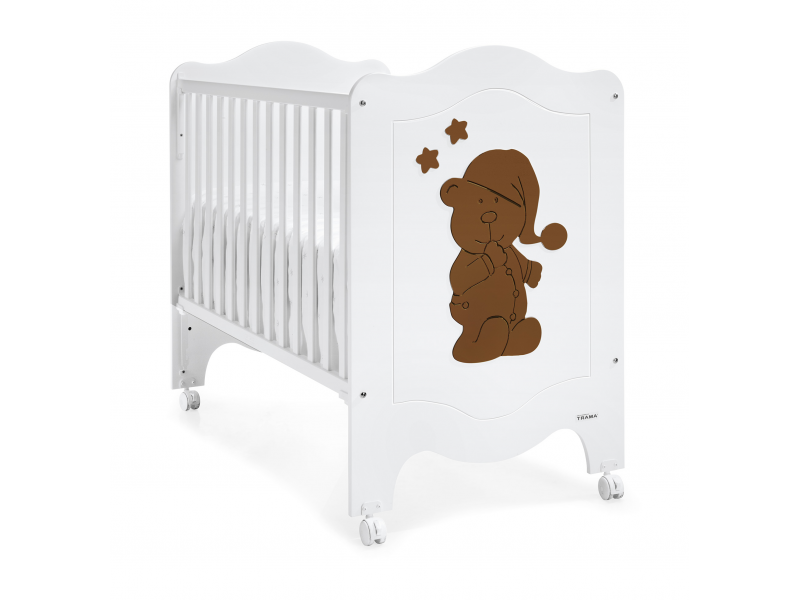 Trama SLEEPY BEAR POSTÝLKA 120X60, white-chocolate