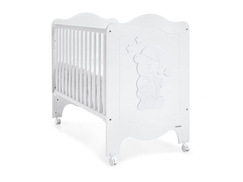 Trama SLEEPY BEAR POSTÝLKA 120X60, white