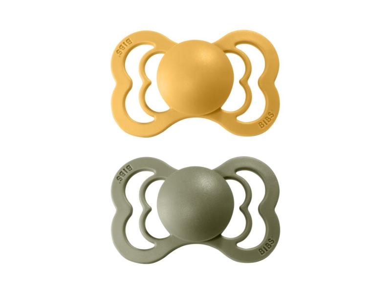 Dudlíky SUPREME  Honey Bee/Olive - velikost 2, z přír.kaučuku 2ks 1