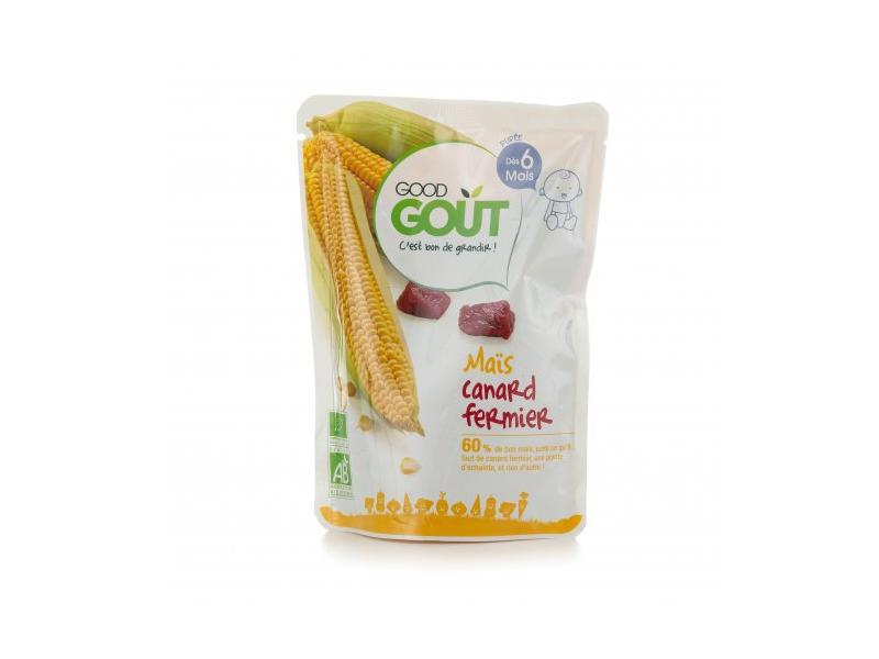 Good Gout Kapsička BIO Kukuřice s kachním masem 190 g