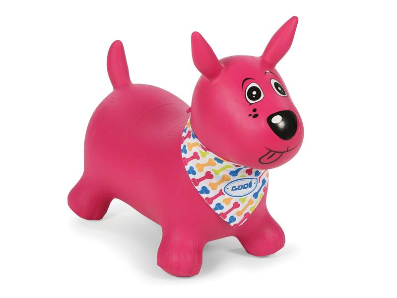 Skákací pes růžový 1