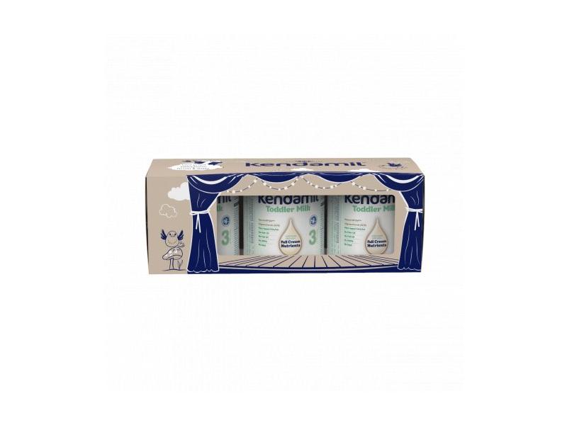 Kendal Nutricare Kendamil batolecí mléko 3 DHA+ (3× 900 g), pohádkové balení s dárkem a divadlem