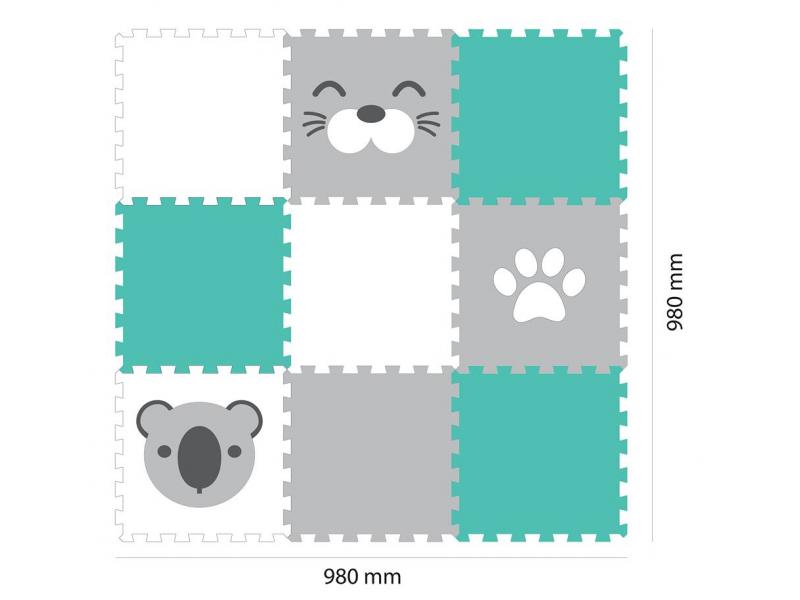 Minideckfloor podlaha 9 dílů - koala, tuleň, tlapka 1