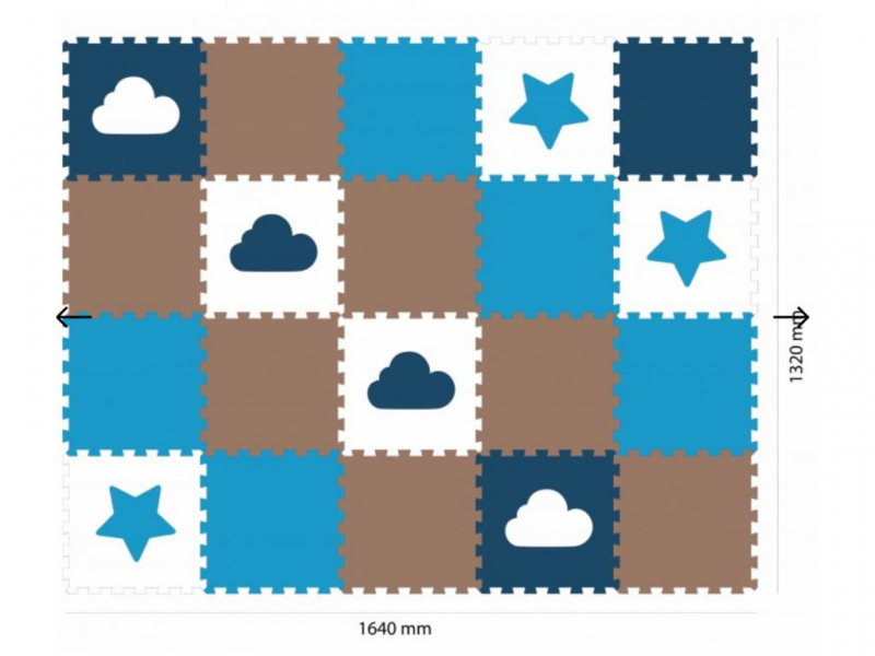 Minideckfloor podlaha 20 dílů - hvězda a mrak 1