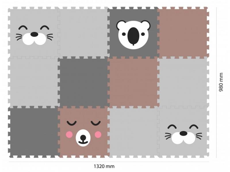 Minideckfloor podlaha 12 dílů -tuleň, medvěd, koala 1