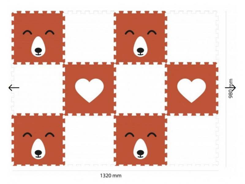 Minideckfloor podlaha 12 dílů - liška a srdce 1
