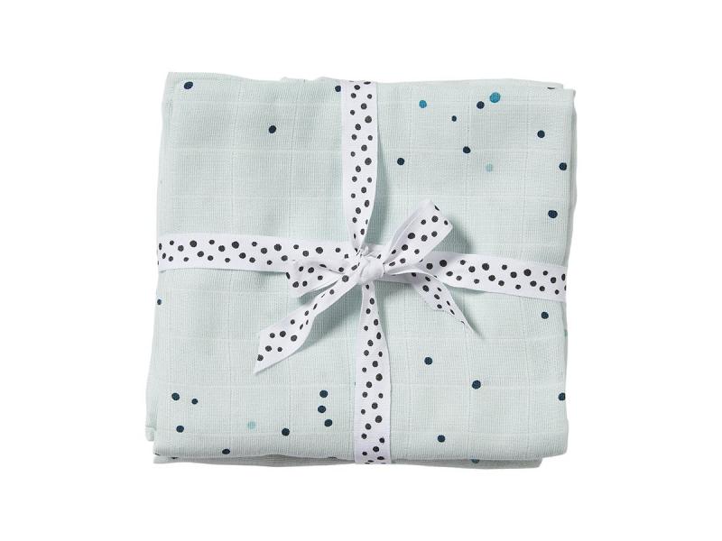 Mušelínové plenky Dreamy Dots 2ks - modré 1