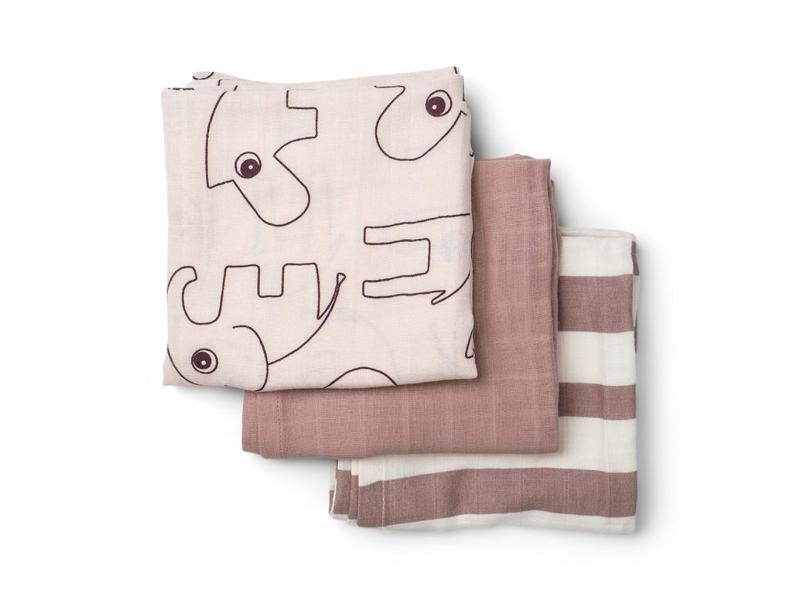 Mušelínové plenky Deer Friends 3ks - růžové 1