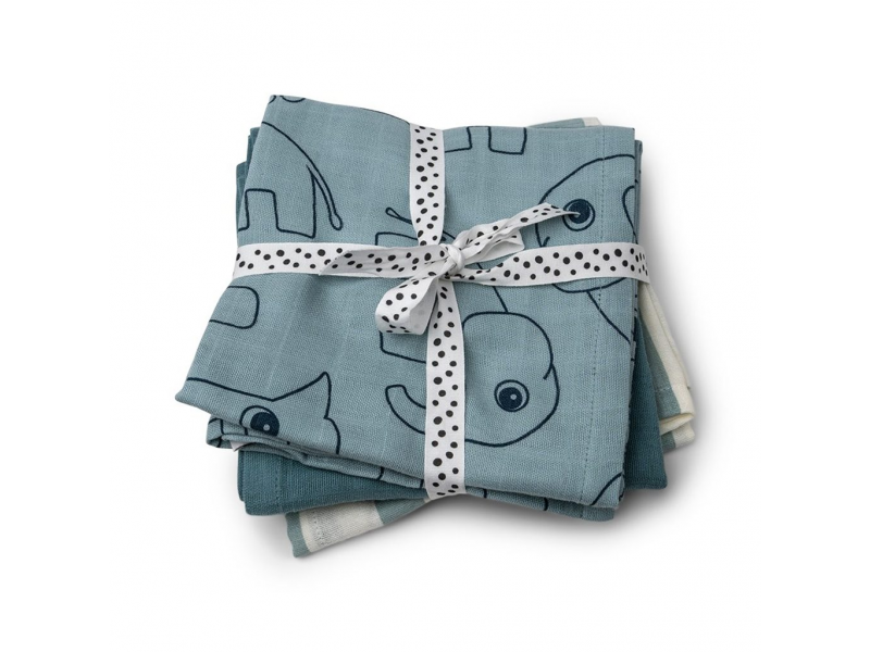 Mušelínové plenky Deer Friends 3ks - modré 1