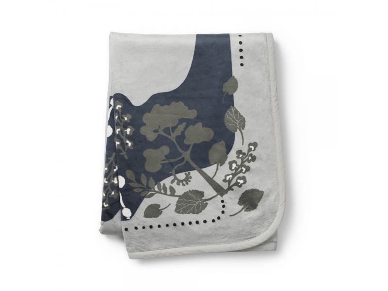 Elodie Details Sametová deka Rebel Poodle mineral Green