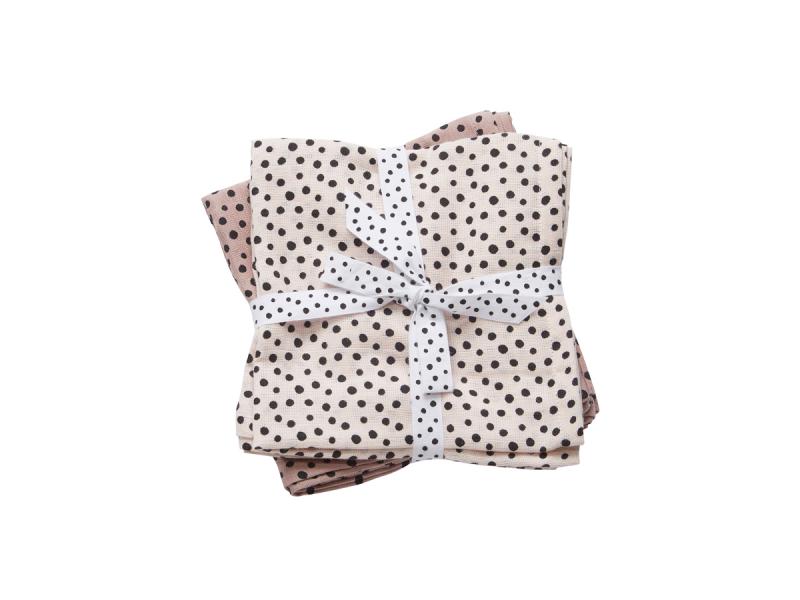 Mušelínové plenky Happy dots 2ks - růžové 1