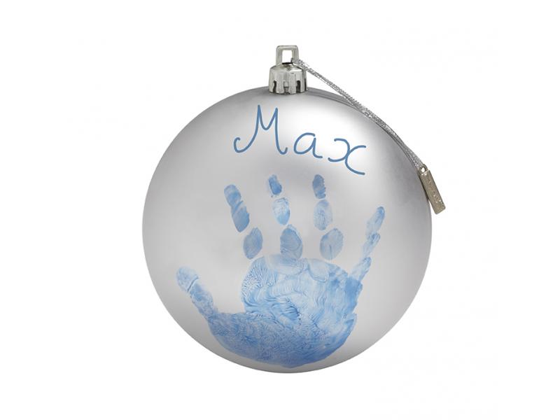 Baby Art Vánoční koule christmas ball silver