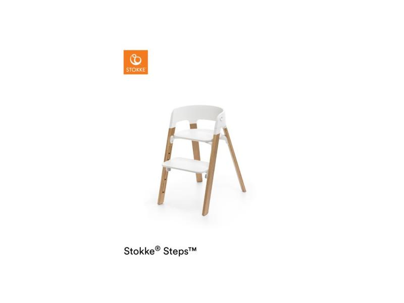 Stokke Židlička Steps™ Bílá / Natural dub