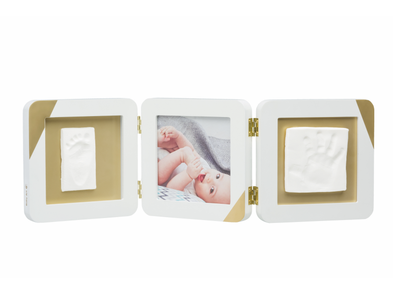 Baby Art Gold Dipped Frame Double White