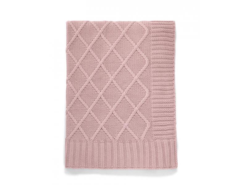 Pletená deka starorůžová 1