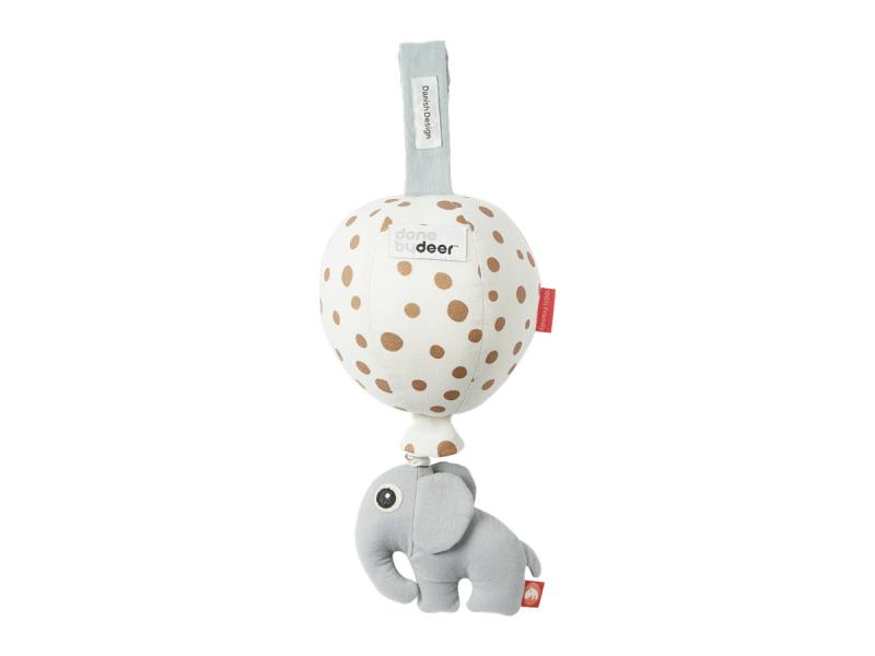 DONE BY DEER Hudební hračka Balloon - Gold Dots