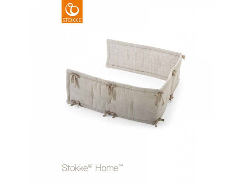 Stokke Mantinel do postýlky , Natural-Beige Checks