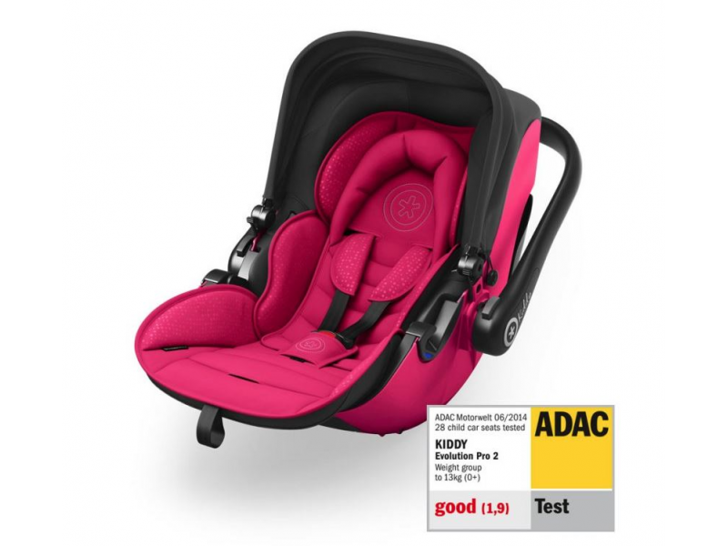 Kiddy Autosedačka Evolution pro 2 2019 Rubin Pink