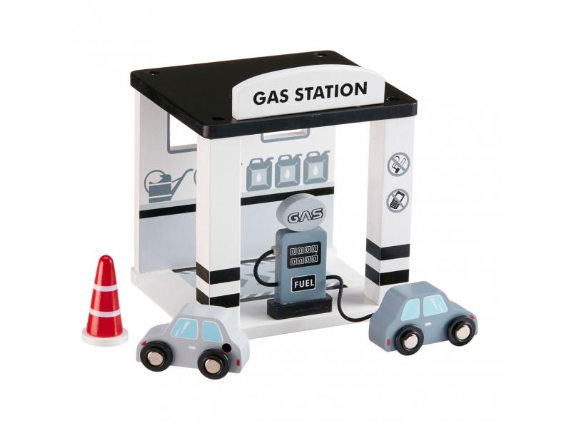 Benzínová stanice dřevěná Grey 1