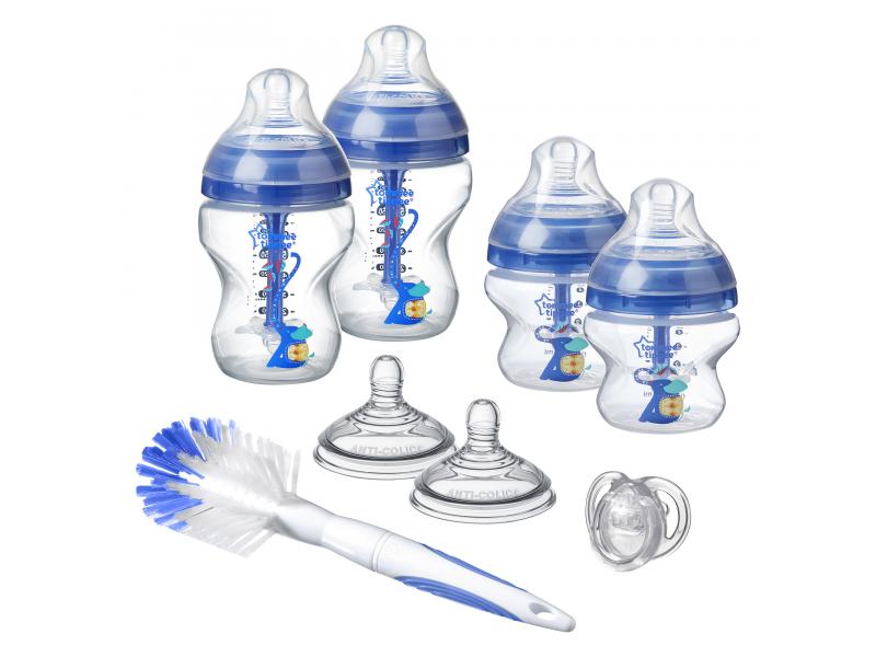 Sada kojeneckých lahviček C2N ANTI-COLIC s kartáčem Blue 1