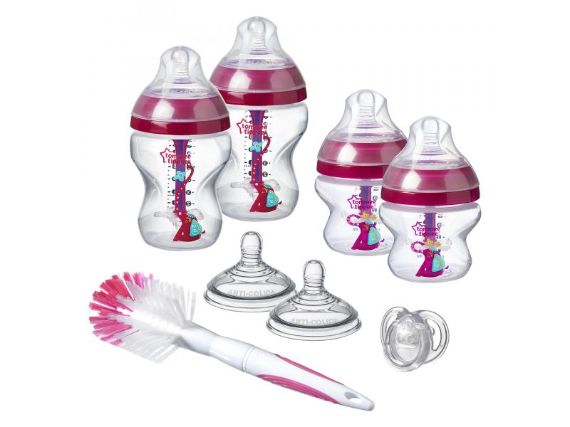 Sada kojeneckých lahviček C2N ANTI-COLIC s kartáčem Pink 1