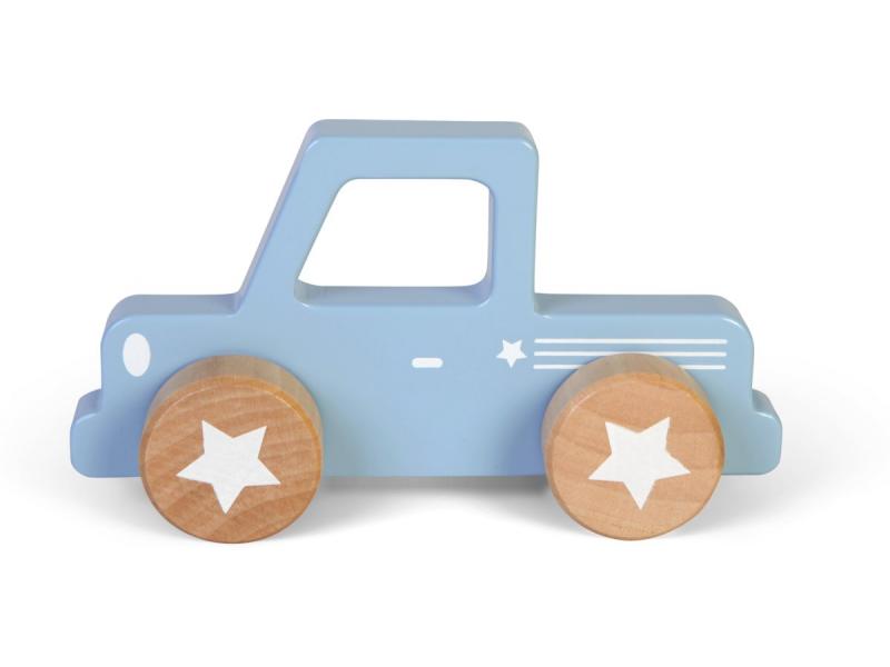 Dřevěné Pick-up autíčko modré 1