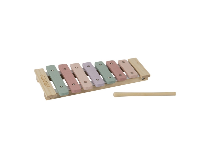 Dřevěný xylofon pink 1
