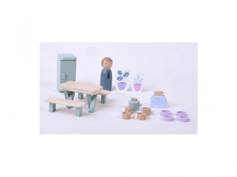 Little Dutch Dřevěný hrací set kuchyň 19ks