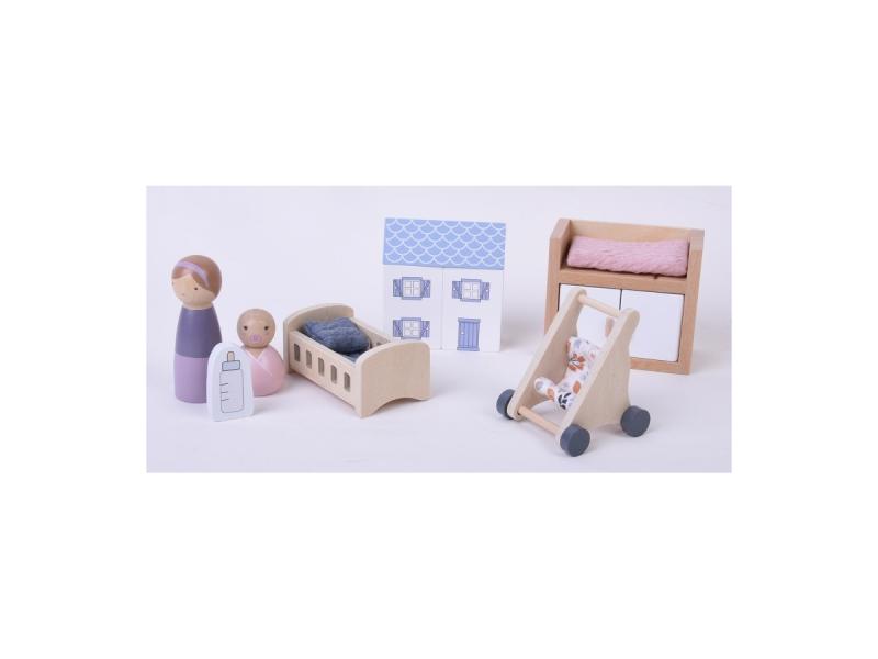 Little Dutch Dřevěný hrací set miminko 11ks