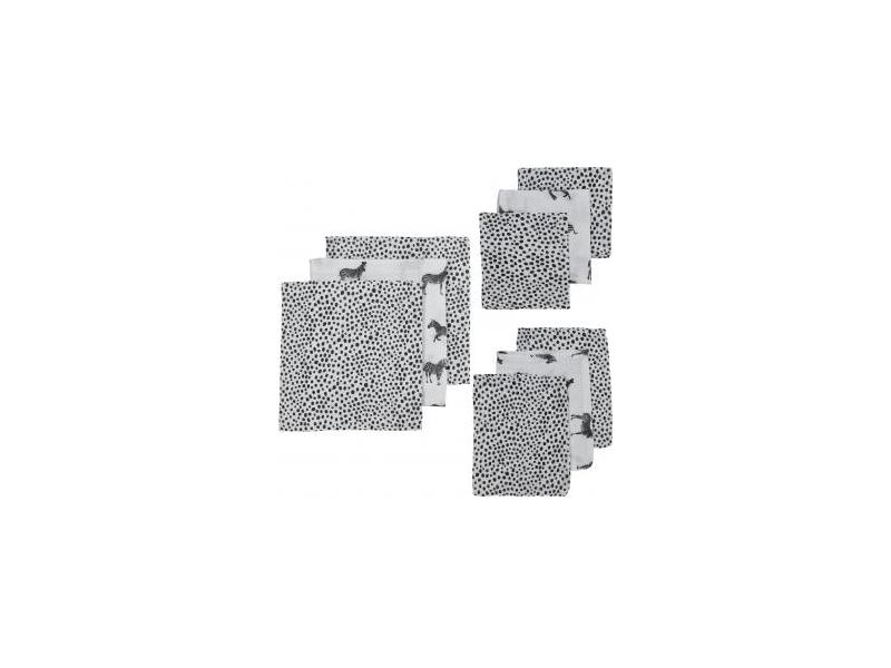 9 ks startovací balení zebra animal/cheetah black( 3ks 70x70, 3ks 30x30, 3 ks 17x20 ) 1