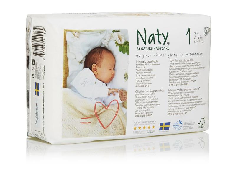 Naty Plenky Nature Babycare Newborn 2 - 5 kg (26 ks)