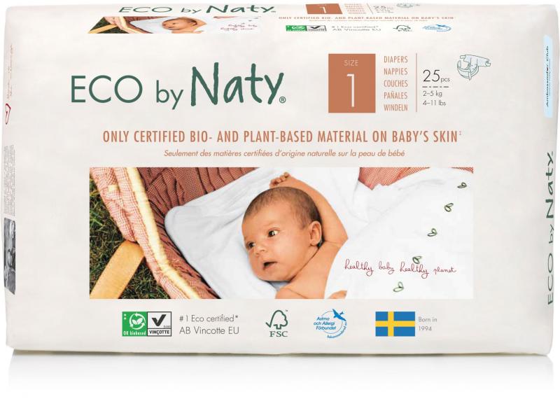 Naty Plenky Naty 1 Newborn 2 - 5 kg (25 ks) - NOVÉ BALENÍ