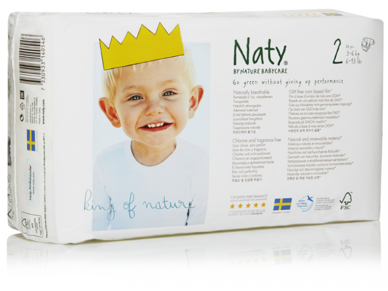 Naty Plenky Naty Nature Babycare Mini 3 - 6 kg (34 ks)