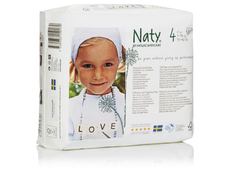Naty Plenky Nature Babycare Maxi 7 - 18 kg (27 ks)