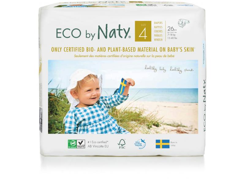 Naty Plenky Naty 4 Maxi 7 - 18 kg (26 ks) - NOVÉ BALENÍ