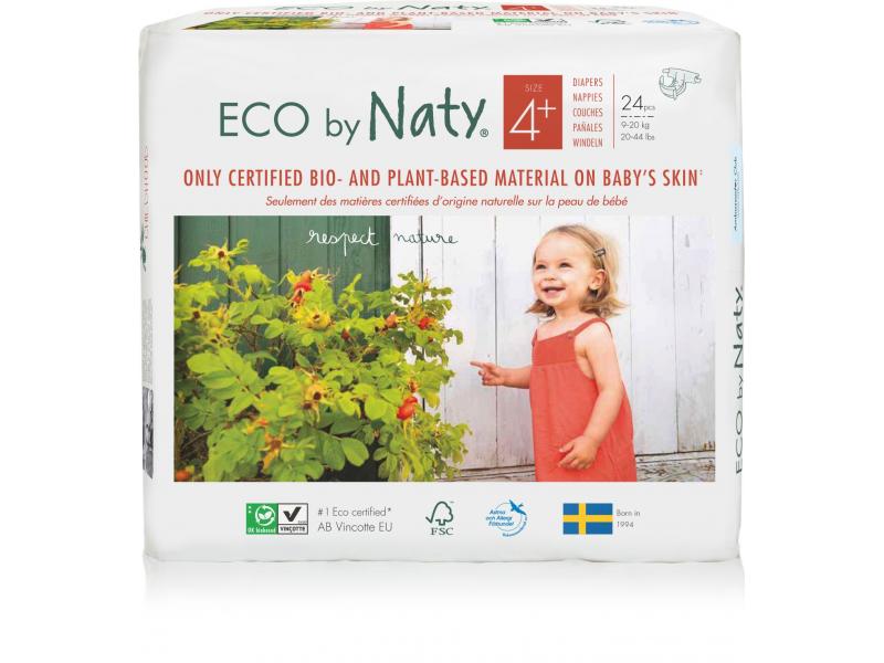 Plenky Naty 4+ Maxi 9-20 kg (24 ks) - NOVÉ BALENÍ 1