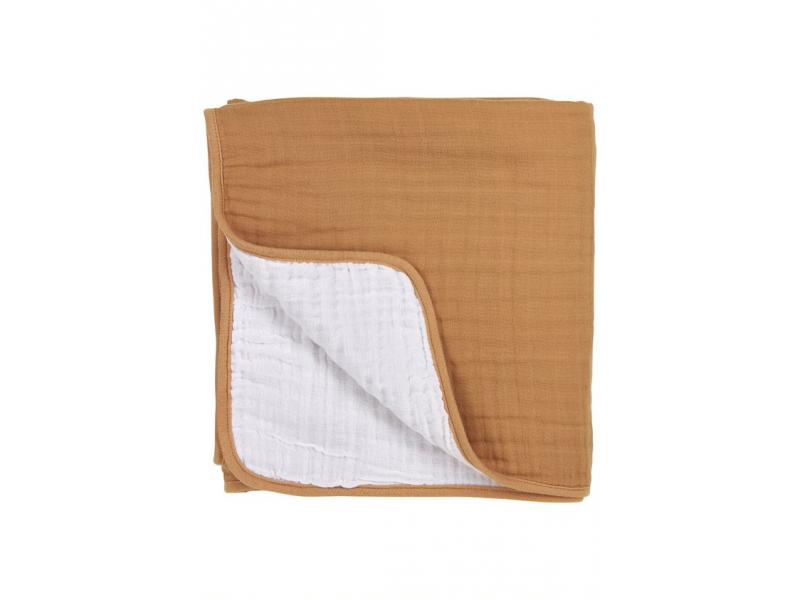 mušelínová osuška velká 120x120cm Uni warm sand/warm white 1