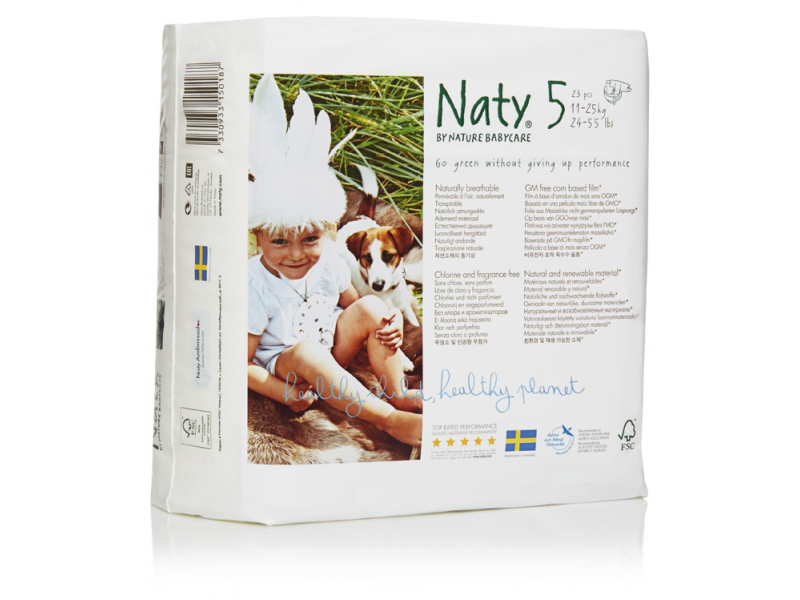 Naty Plenky Naty Nature Babycare Junior 11 - 25 kg (23 ks)