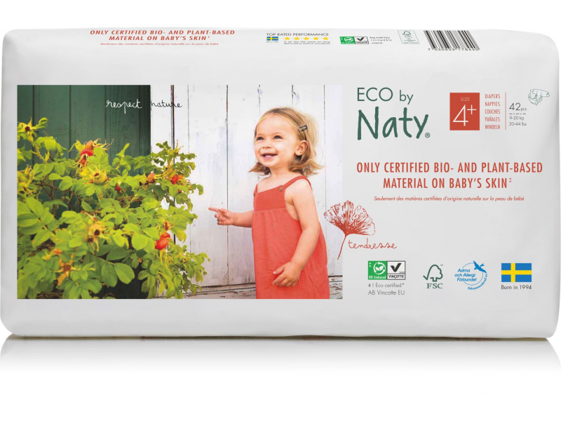 Plenky Naty Maxi+ 9-20 kg - ECONOMY PACK (42 ks) 1