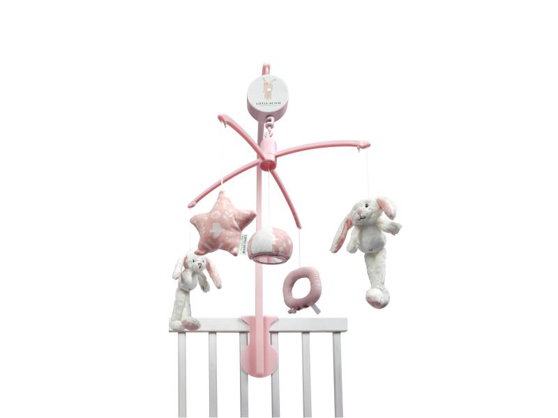 Plyšový kolotoč zajíčci Pink 1