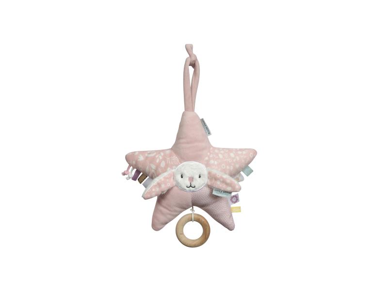 Little Dutch Plyšová hrající hvězda zajíček PINK
