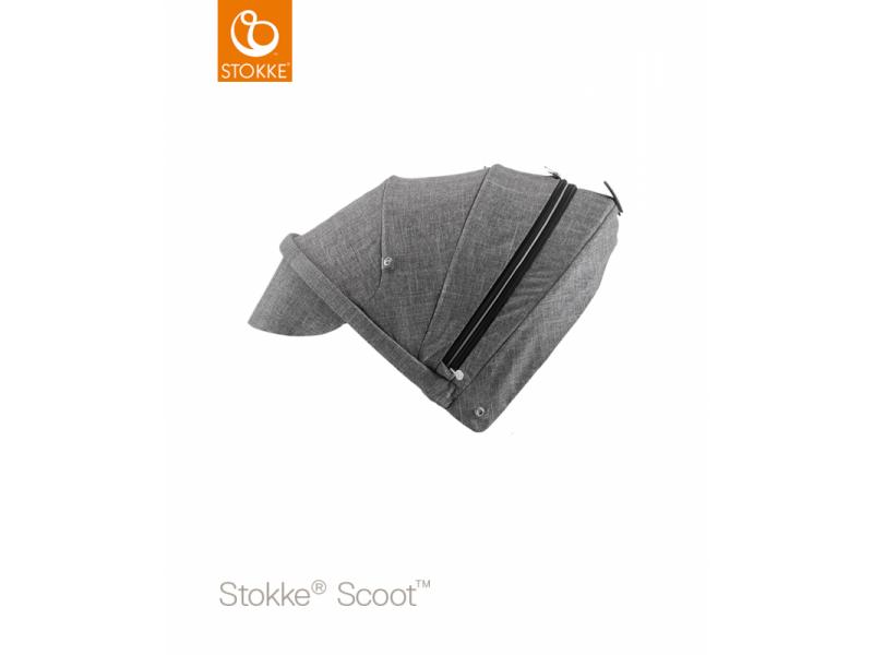 Stokke Stříška na kočárek a korbu Scoot™, Black Melange