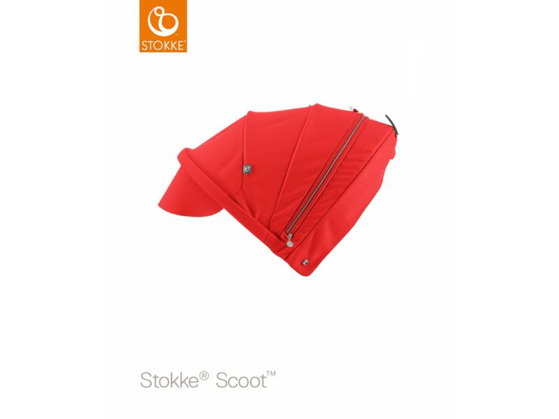 Stokke Stříška na kočárek a korbu Scoot™, Red