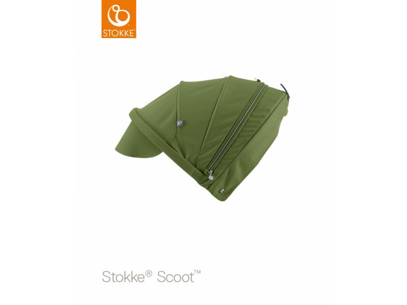 Stokke Stříška na kočárek a korbu Scoot™, Green
