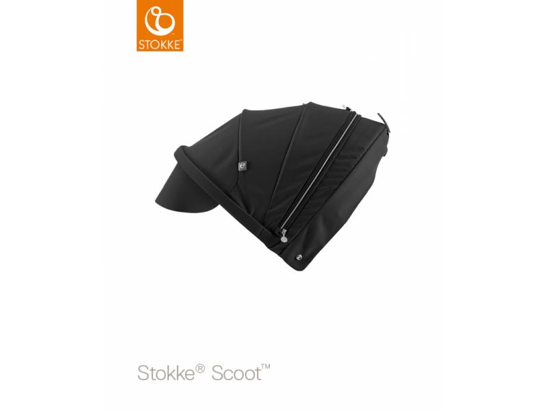 Stokke Stříška na kočárek a korbu Scoot™, Black