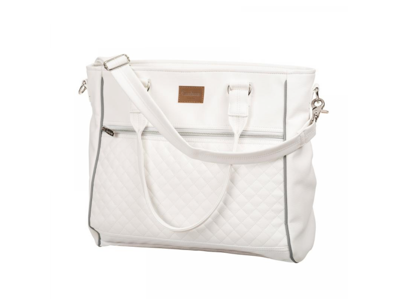 Emmaljunga Taška na rukojeť Exclusive White Leatherette