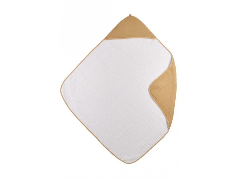 mušelínová osuška Uni warm sand/warm white 1