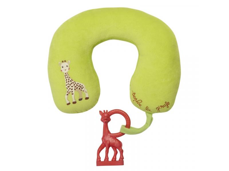 Polštářek žirafa Sophie s vanilkovým kousátkem 1