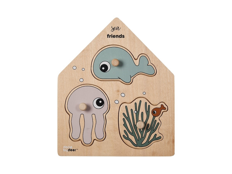 DŘEVĚNÉ PUZZLE SEA FRIENDS 1