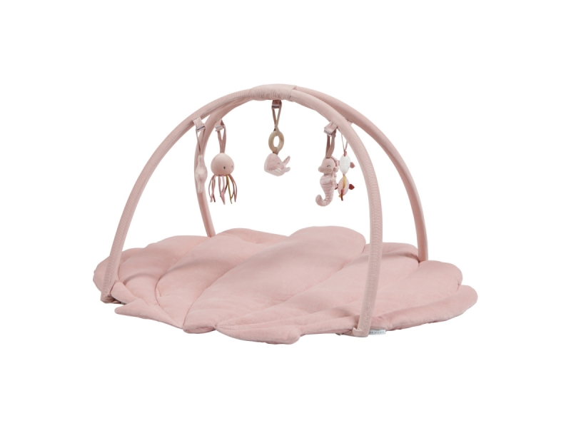 Little Dutch Hrací deka s hrazdičkou ocean pink